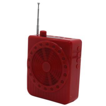 Detail Images K150 Multi-Function Sling Band Loudspeaker Megaphone with Lapel Mic(Red) Set Of 2 Ubdate
