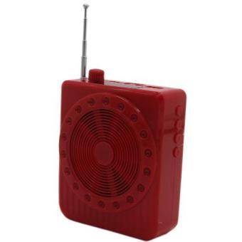 K150 Multi-Function SlingBand LoudSpeaker MegaPhone with Lapel Mic (Red) - 3