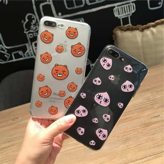 Kakao iphone6 transparent full edging soft case phone case