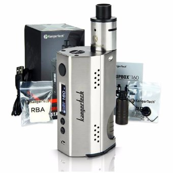 Kangertech Dripbox 160W Squonker Type Variable Electronic Cigarette Starter Kit (Silver)