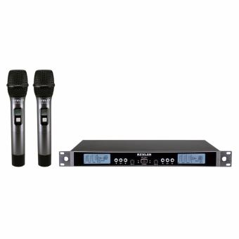 Kevler Professional Mr-200h Dual Channel Uhf Wireless Handheld Microphone with 200 Selectable Freq. (Black) Price Philippines