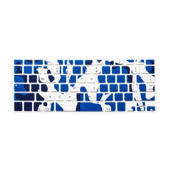 Keyboard Protective Film 12 Inch for Apple MacBook Air MacBook Pro (New Camouflage Blue) (Intl)