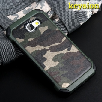 Keysion Fashion Case For Samsung Galaxy A9(2016) Plastic and TPU Hard Cover for A9 Pro Camouflage Style Armor Protector A900 A910 Shell - intl