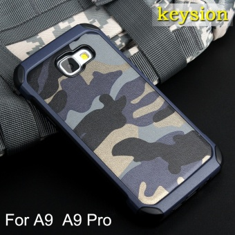 Keysion Fashion Case For Samsung Galaxy A9(2016) Plastic and TPUHard Cover for A9 Pro Camouflage Style Armor Protector A900 A910Shell - intl