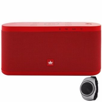 Kingone K9 Portable Bluetooth Speaker (Red) with LHR B20 Wireless Sports Wristband Bluetooth Music Speaker (Color May Vary) Price Philippines