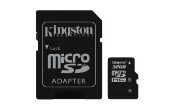 Kingston Micro SD Class 4 32GB Card microSDHC with SD Adapter forSmartphone & Camera