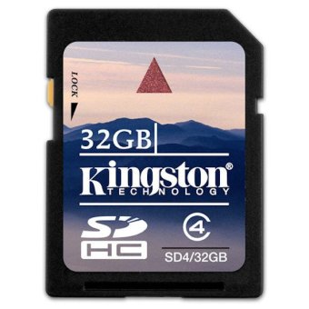 Kingston SDHC 32GB SD Memory Card (Black)