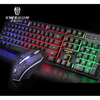 KMX-50 Wired Gaming Keyboard and Mouse (Black)