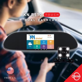 KN Night R510 International Rearview Mirror Dual Dashcam Car DVR Camera
