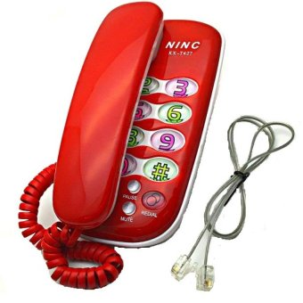 KX-T427 Corded Telephone (Red) with FREE LD LACE