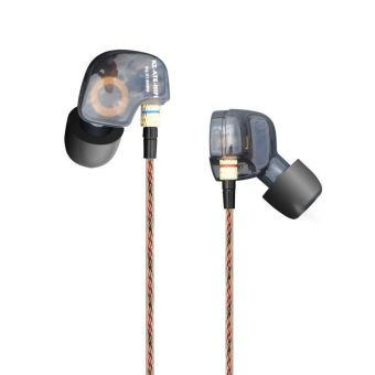 KZ ATE in ear Earphones with Microphone Stereo Bass Headsets(Black) - intl - 2