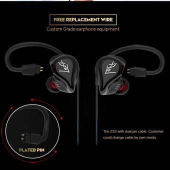 KZ ZS3 Professional Hifi 3.5mm in-Ear Earphone Heavy Bass Music (with microphone) - intl