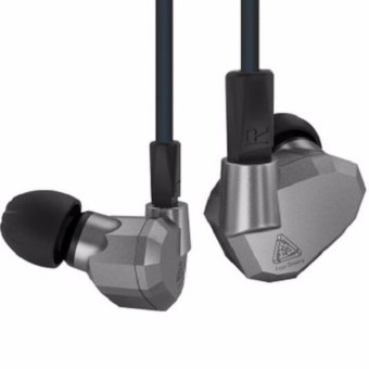 KZ ZS5 Earphone with microphone Quad hybrid 2BA+2DD driver(silver)