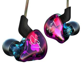 KZ ZST Balanced Armature Dynamic HIFI In-Ear Sport Earphone - Violet - intl - 3