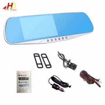 L703 4.3 inch Full HD 1080P Display Vehicle Black BoxHigh-definition Dual-lens Rear View Mirror Car Camera - 3