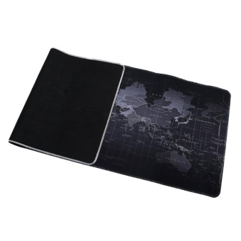 LALANG 800*300*2MM Portable Rubber Extended Gaming Large Keyboard Mouse Pad World Map Pattern S(Black) - intl - 3