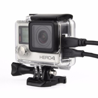 Lantoo Wire Connectable Skeleton Protective Side Open Housing Case Shell Cover with Lens for Gopro Hero 3+ 4 Camera - intl