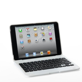 Laptop Style Bluetooth Keyboard Case for Apple iPad mini 1/2/3(White) - intl