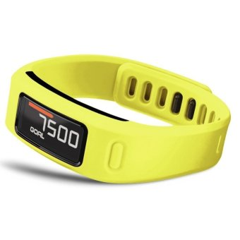 Large Replacement Wrist Band with Clasp For Garmin Vivofit Bracelet (No Tracker) (Yellow) L