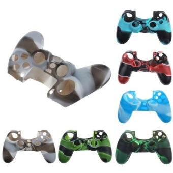 Latest Camouflage Silicone Rubber Skin Grip Cover Case forPlayStation 4 PS4 Controller - intl