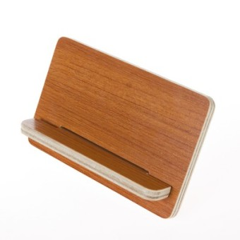 Lazy wooden mobile phone support portable phone base