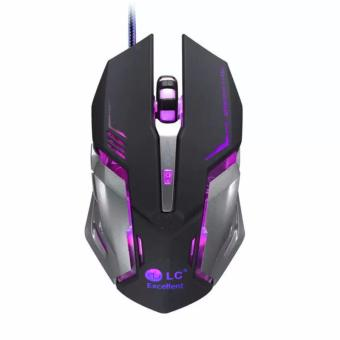 LC V5 Professional Backlit LOL / CS Gaming Mouse (Black)