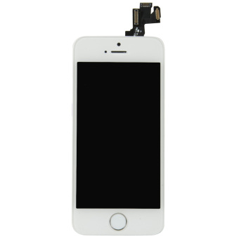 LCD Touch Digitizer Screen+Camera +Button Flex Cable Assembly ForiPhone 5S(White)