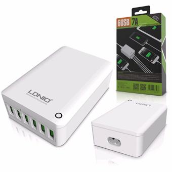 LDNIO A6703 6 USB 5V / 7.0A Quick Charge Desktop USB Charger