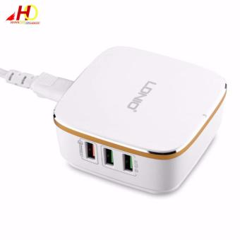 LDNIO A6704 6 USB 5V / 7.0A 2.0 Quick Charge Desktop USB Charger(White)