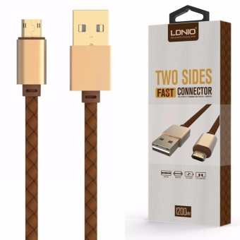 LDNIO LS25 1.2M Fast Charge Leather Coated Lighting USB Cable for Android (Gold/Brown) Price Philippines