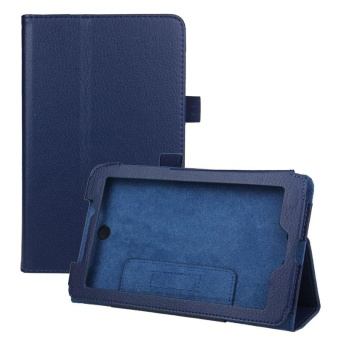 Leather Case Cover Stand for Acer Iconia Tab 7 A1-713 7' Tablet PCBlue - intl