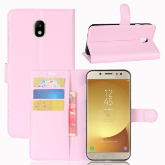 Leather Flip Cover Phone Case Wallet Card Holder For Samsung Galaxy J7 Pro / J7 2017 / J730 - intl