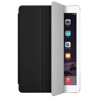 Leather Magnetic Slim Smart Cover Case for iPad Air 2 2014 (Black)