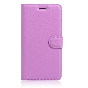 Leather Wallet Flip Cover Case For Samsung Galaxy J7 2016 (Purple) - intl