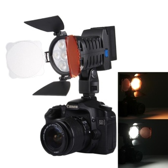 LED-5010 6 LED 750LM Dimmable Video Light On-Camera PhotographyLighting Fill Light For Canon, Nikon, DSLR Camera With Hand Grip -intl