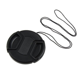 Leegoal Black Universal 55mm Lens Cover Snap on Lens Cap With Cablefor SLR Cameras - Intl