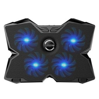 leegoal KOBWA Laptop Cooler Cooling Pad Stand Ultra-quiet Gaming Notebook Cooler For 15.6-17 Inch Laptops With 1200 RPM 4 Fans, Dual USB Port And Multi Tilt Angle Option.(Blue) - intl