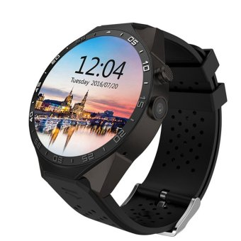LEMFO KW88 Android 5.1 OS 3G Smart Watch support 2.0MP Camera Bluetooth SIM Card WiFi GPS Heart Rate Monitor (Black)