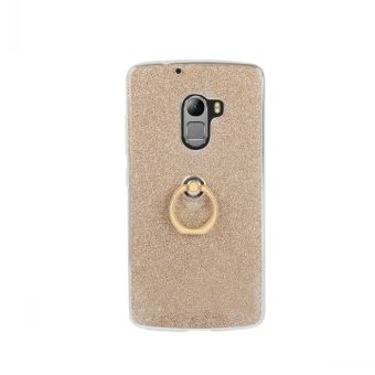 Lenovo k4note/a7010 leather glitter stickers cover-protective case fastened Ring