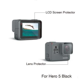 Lens and Screen Protector Protection Film For Gopro Hero 5 CameraGo pro 5 HD accessories - intl