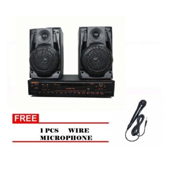 Lexing Karaoke DVD With Speaker (Black)