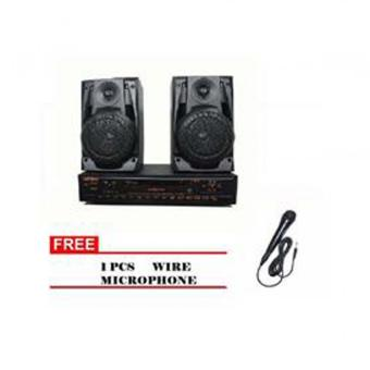 Lexing Karaoke DVD With Speaker(Black)