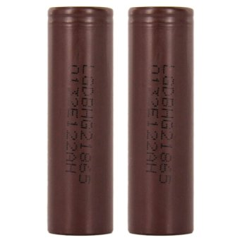 LG HG2 18650 3.7v 3000mAh 20A Flat Top Rechargeable Battery (Brown)Set of 2