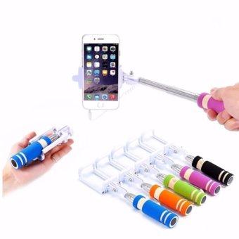 LHR 13.8cm Built-in Wired Shutter Mini Foldable Selfie Stick Monopod (Pink) Buy 1 Take 1 - 4