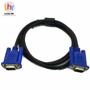 LHR 15 pin Male to Male VGA Cord Cable (Black)