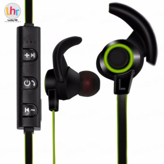 LHR AMW-810 Bluetooth 4.1 Stereo Wireless In-Ear Sports Earphone With Microphone (Black/Green)