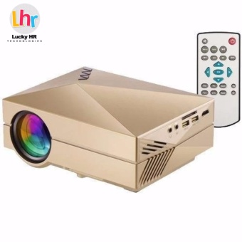 LHR GM60 HD Home Theater Mini Portable Projector (Gold)