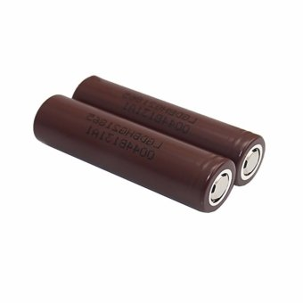 LHR Li-ion 18650 3000mAh 3.7V Battery For Electronic Cigarette (Brown) Set of 2 - 3