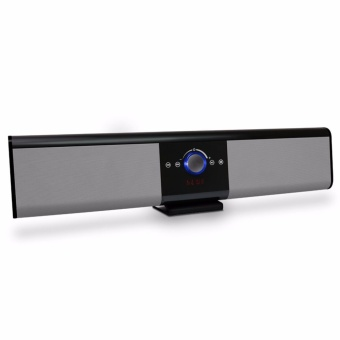 LHR TG018 Portable Wireless Bluetooth Soundbar Speaker Super Bass 4.2 2200mAh with Remote Control (Silver)