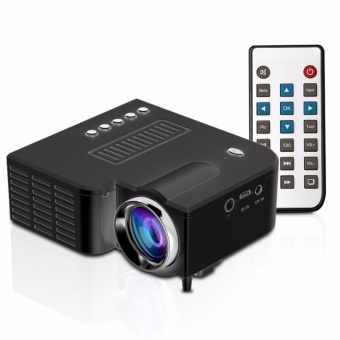 LHR UC28A 1080P Simplified Home Theater Micro LED Projector (Black)